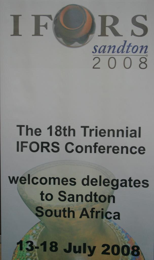 IFORS 2008 Banner
