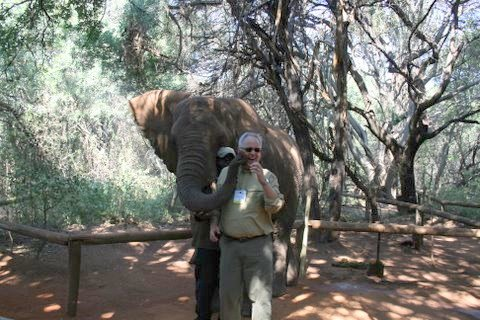 Mike Trick and elephant at IFORS 2008
