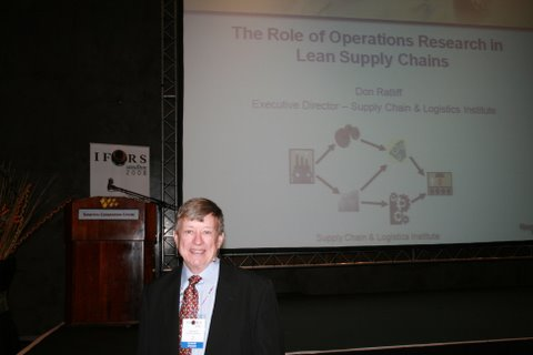 Don Ratliff at IFORS 2008