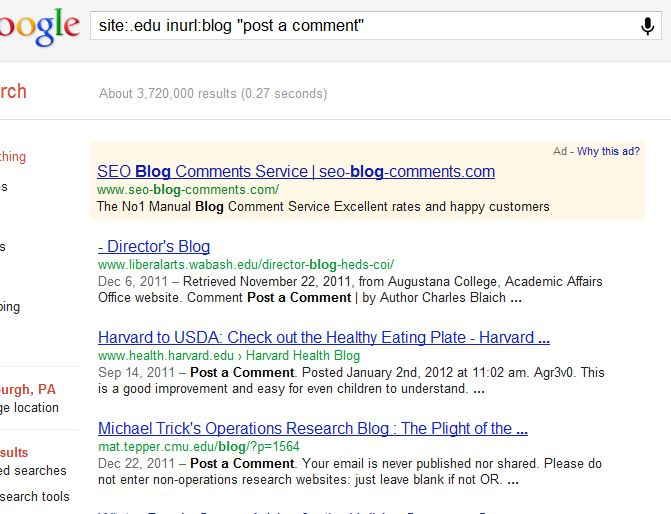 Mike Trick's Operations Research Blog : The Perils of Search